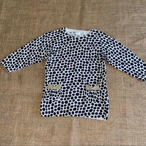 H&M animal print sweater dress 12-18 months